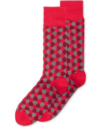Alfani - Hexagon Crew Socks - Lyst
