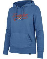 outlet store sale 4e544 754b2 47 Brand Denver Nuggets Clean Sweep Headline Hoodie in Blue ...