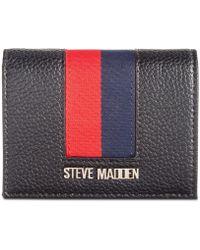 pretty nice 9600c 062e1 Lyst - Steve Madden Zip Around Travel Wallet in Gray