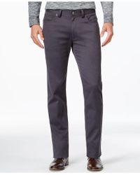 Vince Camuto - Men's Charcoal Grey Stretch Trousers - Lyst