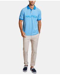 5c1794c3f Lyst - Nautica Classic-fit Stretch Piqué Polo in Blue for Men