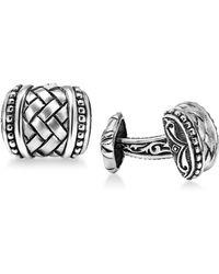 Scott Kay - Men's Weave-style Cuff Links In Sterling Silver - Lyst