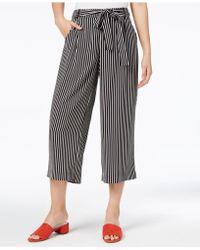 Maison Jules - Striped Culotte Pants - Lyst