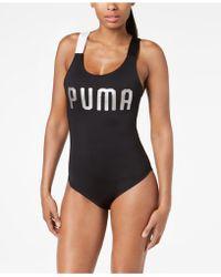 PUMA - En Pointe Cross-back Bodysuit - Lyst