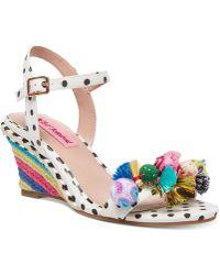 Betsey Johnson - Koko Wedge Sandals - Lyst
