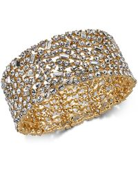 INC International Concepts - I.n.c. Wide Crystal Cluster Stretch Bracelet, Created For Macy's - Lyst