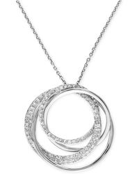 Effy Collection - Diamond Circle Pendant Necklace (3/8 Ct. T.w.) In 14k White Gold - Lyst