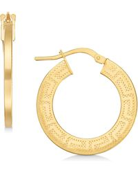 Giani Bernini - Greek Key Hoop Earrings, Created For Macy's - Lyst