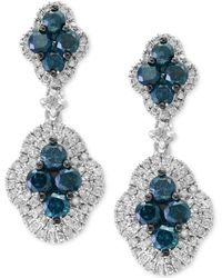 Effy Collection - Diamond Drop Earrings (1-7/8 Ct. T.w.) In 14k White Gold - Lyst
