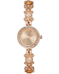 Charter Club - Rose Gold-tone Crystal Flower Bracelet Watch 23mm, Created For Macy's - Lyst