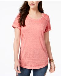 Style & Co. - Scoop-neck Burnout T-shirt, Created For Macy's - Lyst