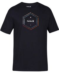 Hurley - Multi Hex Logo-print T-shirt - Lyst