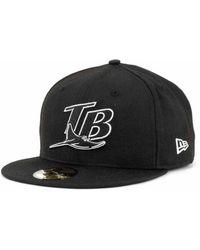 KTZ - Tampa Bay Rays Mlb Black And White Fashion 59fifty Cap - Lyst