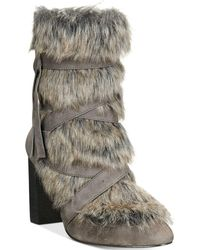 Charles David - Alberta Faux-fur Booties - Lyst