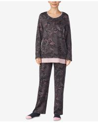 Ellen Tracy - Printed Knit Pajama Set - Lyst