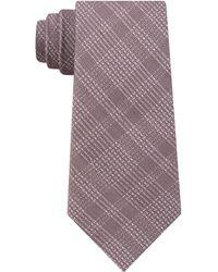 DKNY - Plaid Grid Contrast Slim Tie - Lyst