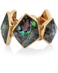 Robert Lee Morris - Gold-tone Abalone-look Bangle Bracelet - Lyst