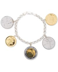 Giani Bernini - Two-tone Coin Charm Bracelet In Sterling Silver & 18k Gold-plate, Created For Macy's - Lyst