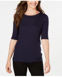 Eileen Fisher - ® Elbow-sleeve Top - Lyst