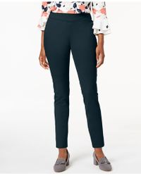Charter Club - Petite Pull-on Slim-leg Twill Trousers, Created For Macy's - Lyst