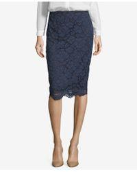 Eci - Lace Pencil Skirt - Lyst