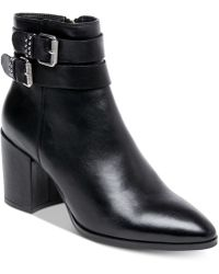 Steven by Steve Madden - Pearle Buckle Booties - Lyst
