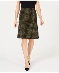 Kasper - Metallic Pencil Skirt - Lyst