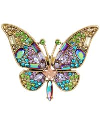 Betsey Johnson | Gold-tone Multi-stone Butterfly Ring | Lyst