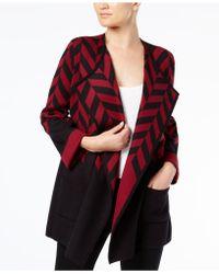 Alfani - Colorblocked Sweater Coat - Lyst