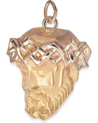 Macy's   Christ Head Pendant In 14k Gold   Lyst