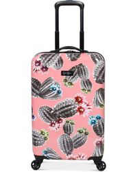 """Jessica Simpson - Cactus Printed 21"""" Hardside Spinner Suitcase - Lyst"""