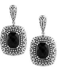Effy Collection - Onyx (6-4/5 Ct. T.w.) Drop Earrings In Sterling Silver - Lyst