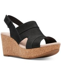 Clarks - Annadel Ivory Wedge Sandal - Wide Widths Available - Lyst