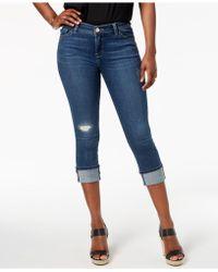 Lee Platinum - Petite Cuffed Capri Jeans - Lyst