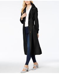 London Fog - Hooded Maxi Trench Coat - Lyst