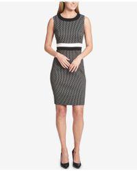 Tommy Hilfiger - Printed Striped-waist Sheath Dress - Lyst