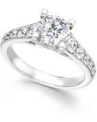X3 - Certified Diamond Engagement Ring In 18k White Gold (2-1/4 Ct. T.w.) - Lyst