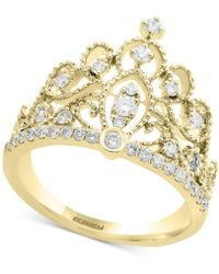 Effy Collection - Diamond Crown Statement Ring (3/8 Ct. T.w.) In 14k Gold - Lyst