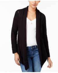 Style & Co. - Asymmetrical Pointelle Cardigan - Lyst