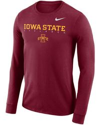 timeless design 7c82e 2191d Nike - Iowa State Cyclones Long Sleeve Facility T-shirt - Lyst