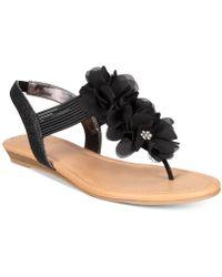 Material Girl - Sari Floral Embellished Wedge Sandals - Lyst