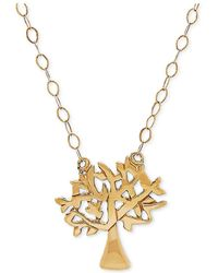 "Macy's - Tiny Tree Of Life 17"" Pendant Necklace In 10k Gold - Lyst"