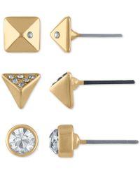 RACHEL Rachel Roy - 3-pc. Set Gold-tone Spike Earrings - Lyst