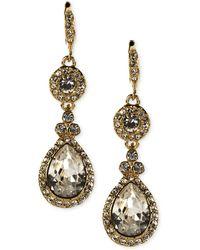 Givenchy - Earrings, Gold-tone Swarovski Element Teardrop Earrings - Lyst