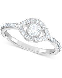 Swarovski - Silver-tone Crystal Eye Ring - Lyst