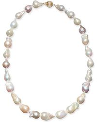 """Macy's - Multicolor Cultured Baroque Freshwater Pearl (9-11mm) 17"""" Collar Necklace - Lyst"""
