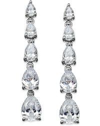 Arabella - Swarovski Zirconia Graduated Linear Earrings In Sterling Silver (8 Ct. T.w.) - Lyst