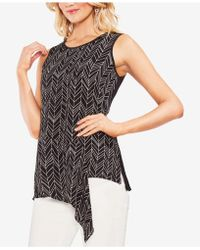 Vince Camuto - Asymmetrical Contrast Top - Lyst