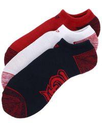 47 Brand - 3pack Blade Motion No Show Socks - Lyst