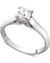 X3 - Diamond Engagement Ring In 18k Gold Or 18k White Gold (1/2 Ct. T.w.) - Lyst